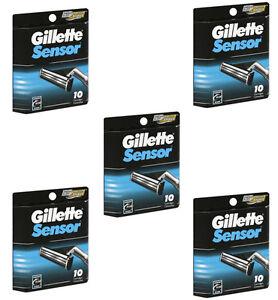 Gillette Sensor Razor Blade Refill, 50 Cartridges