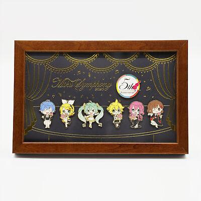 Hatsune Miku Symphony 2020 Limited 5th Anniversary Pin Badge Set Gold