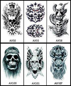 Details About Large 7 X 4 Demon Lord Skull Mystic Eye Wind Ghost Devil Tattoo Sticker