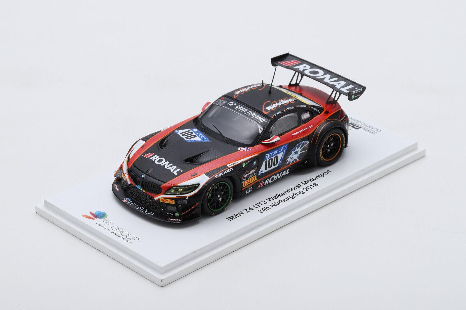 Spark Spark Spark BMW Z4 GT3 Walkenhorst PP Group Zetti 24h Nürburgring 2018  | Primäre Qualität  68ff91