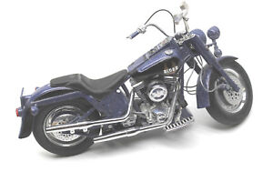 Franklin Mint Harley Davidson Fatboy Biker Blues Motorcycle 1 10 Diecast Replica Ebay