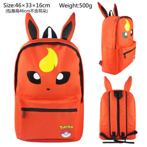 Pokemon Backpack Pikachu Gengar Squirtle Wobbuffet School Shoulder Student Bag