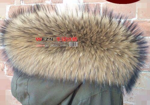 GENUINE Nyctereutes procyon finn raccoon FUR SCARF STOLE COLLAR WRAP SHAWL
