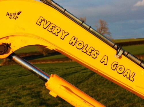 Funny JCB Digger Decal Sticker