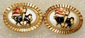 CuffLinks-Bull-amp-Matadore-Bullfighting-Vintage-4797