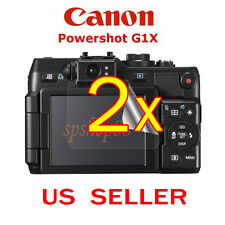 2x Canon PowerShot G1X Camera Clear LCD Screen Protector Guard Shield Film