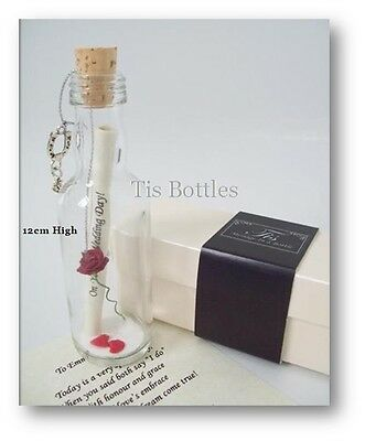 On Our Wedding Day Gift PERSONALISED Message in a Bottle Present