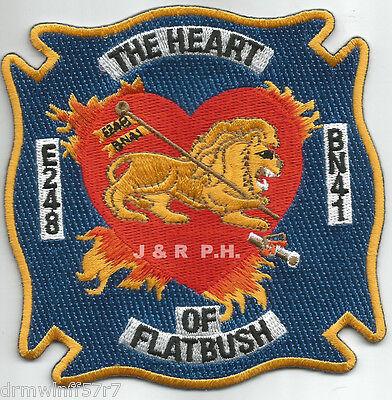 "41 /""The Heart of Flatbush/"" Fire Patch New York City E-248 Batt"