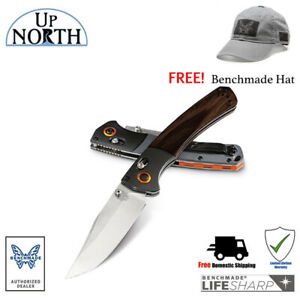 BENCHMADE-Crooked-River-Folding-Hunt-Knife-Wood-Handle-15080-2-SV30-Blade