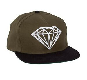 3c8114773 Details about Diamond Supply Co Brilliant Snapback Hat in Army Green