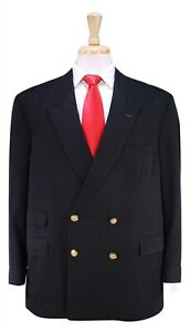 TAILORED-BY-GEORGE-Custom-Made-for-JERRY-LEWIS-Black-Suit-w-Gold-Buttons-46R