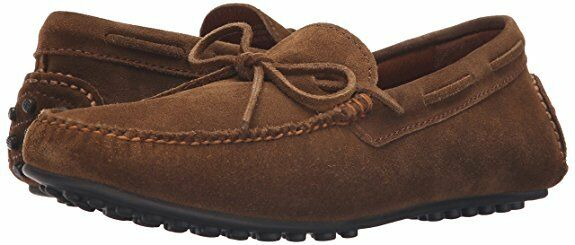 FRYE Mens Allen Tie Slip On Casual Loafer Driver shoes Chestnut Suede 11.5 NEW