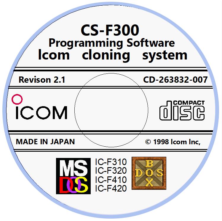 Icom CS-F300 Revision 2.1 Programming Software for Icom IC-F310/F320/F410/F420