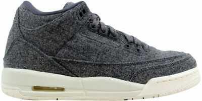 Nike Air Jordan III 3 Retro Wool BG GS SZ 7Y Dark Grey//Sail Wool 861427-004