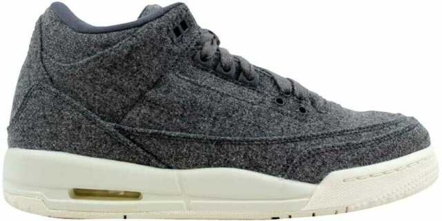 Nike Air Jordan 3 Retro Wool BG Dark Grey Sail Size 5y Kids Youth