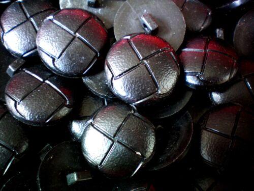 FB3 Large 23mm 36L Black Leather Effect Aran Football Coat Shank Buttons