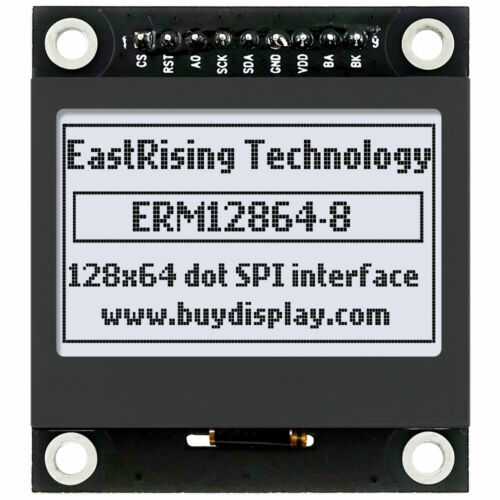 1.54 inch White 128x64 Graphic LCD Display Module SPI for Arduino