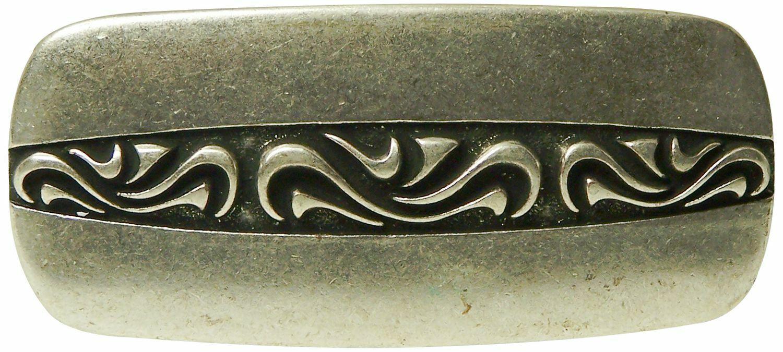 FRONHOFER Antique silver belt buckle, embellished buckle for women 1.2