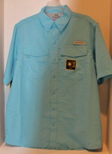 Neuf Avec Étiquettes Homme Realtree Guide de pêche Shirt à Manches Ventilé Chemise UPF40 Bleu-Choix Taille