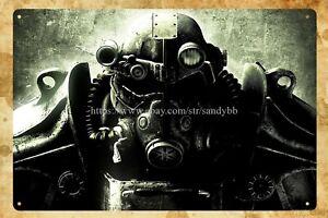 man cave  interior decoration Fallout retro metal tin sign