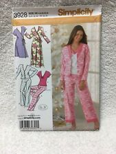 42125c0e50 item 4 3928 SIMPLICITY SEWING PATTERN~UNCUT~MISSES SZ 6-14~ROBE in2 LENGTHS  AND PAJAMAS -3928 SIMPLICITY SEWING PATTERN~UNCUT~MISSES SZ 6-14~ROBE in2  ...