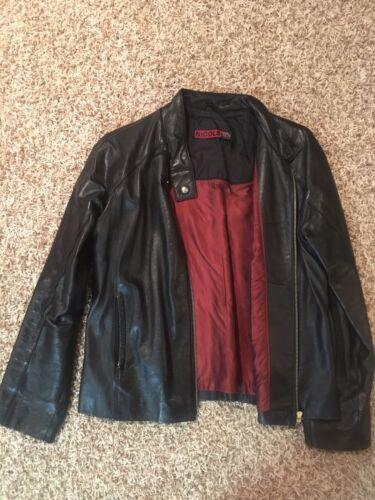 Broken Zipper savner Black Collar 'Size Racer Nicole Miller Large Jacket Læder 7wv5zY