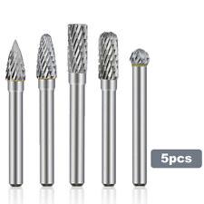 5pcs 14 Double Cut Tungsten Steel Carbide Rotary Burr Drill Grinder Shank Bit