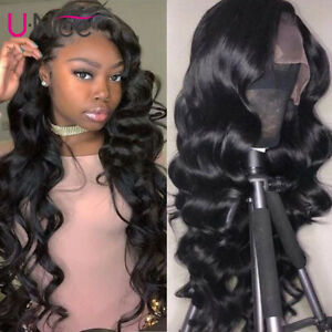 Wigs-For-Black-Women-Pre-Plucked-Indian-Long-Body-Wave-Lace-Front-Human-Hair-Wig