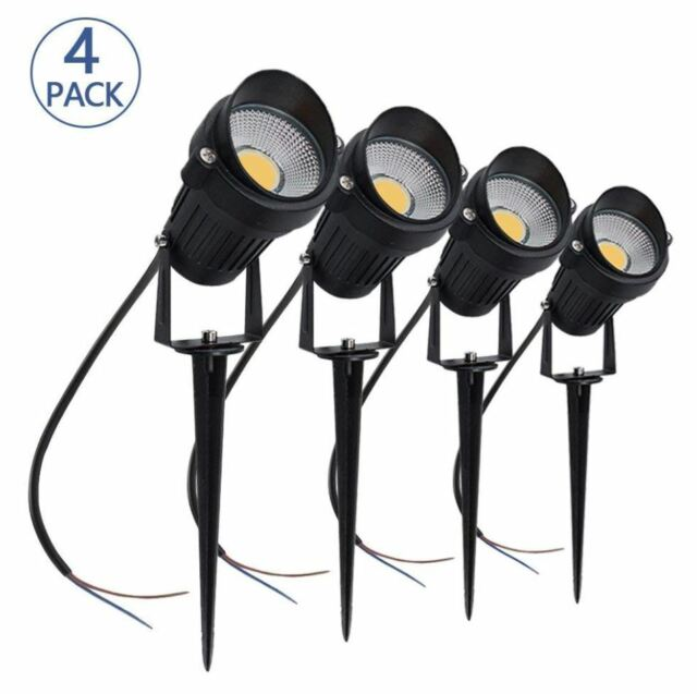 Low Voltage Landscape Lights Lighting Kit Spotlight 5w Led Waterproof Garden 12v
