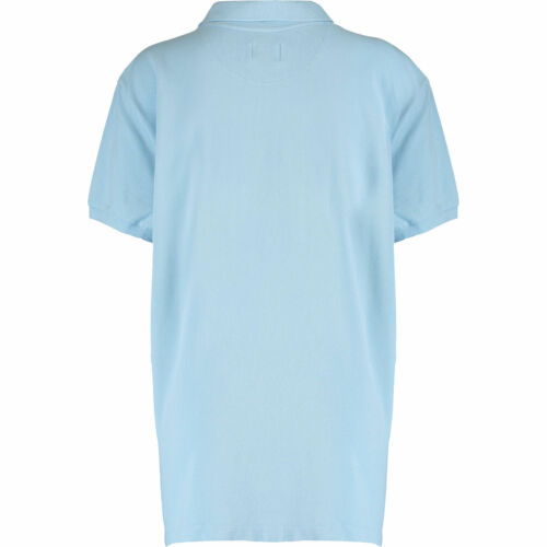 Femme LACOSTE Bleu clair Pique Vintage Lavé Polo Shirt Large//FR 44