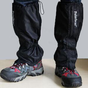Waterproof-Walking-Gators-Boot-Hiking-Climbing-Leggings-Trekking-Gaiters-UK-Ship