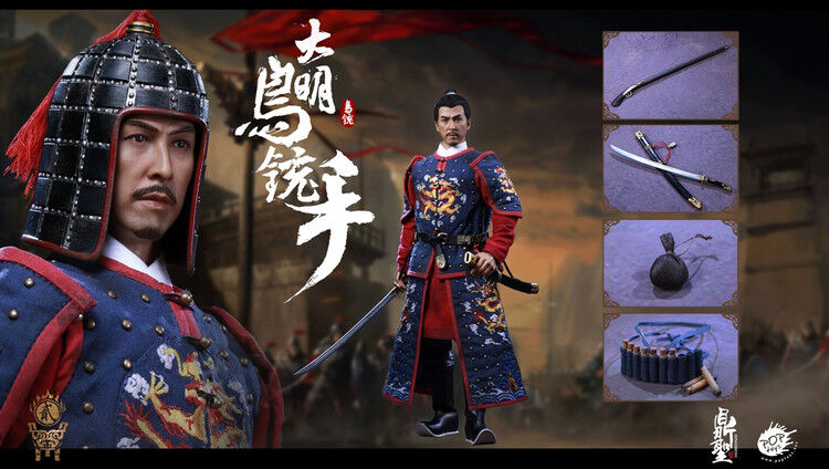 DINGSHENG POPTOYS 1 6 Action Figure Toys Ming Dynasty Musketeer DS002  A Blau
