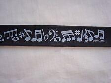 """MUSIC SLAP Bracelet 11"""" Long Black W/MUSIC Symbols Great Gift Brand NEW"""