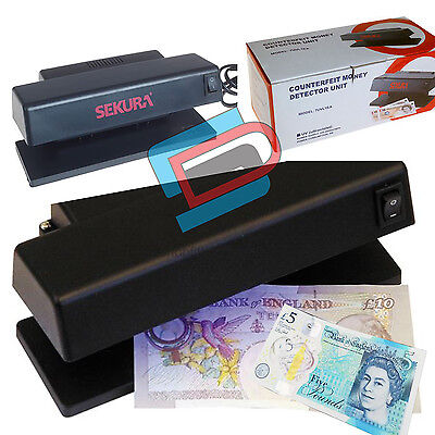 Counterfeit Money Checker Fake Bank Note Credit Card Detector Ultraviolet Light
