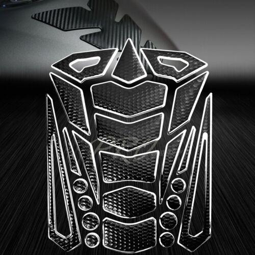 24PCs Perforated Black Tank Pad+Fuel Cap Cover Ninja 500//ZX-6R//7R//9R//11R Chrome