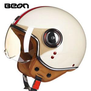 BEON-3-4-Full-Face-Motorcycle-Retro-Helmet-Motorcross-Vintage-helmets-Old-School