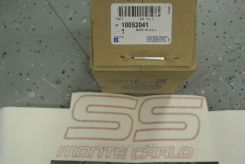 NOS 1987-88 Chevrolet Monte Carlo SS Red Door Decal GM 10052041