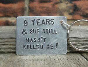 9 Years Funny Keyring 9th Wedding Anniversary Gift For Men Him Husband Boyfriend Ebay
