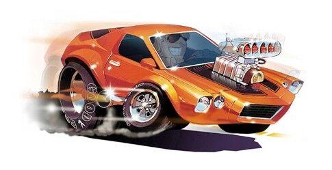 Dave Deal Muscle Car Cartoon T-Shirt #4156 1970 Camaro Z28 automotive art