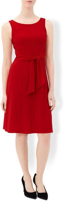 Monsoon Tallulah Dress rot Größe UK 14 LF078 BB 09