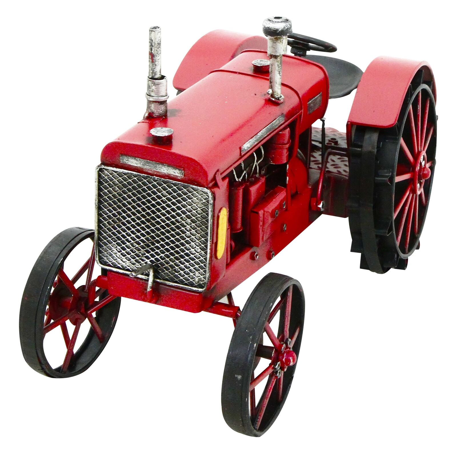 Red Tractor metal ornament Rolson 84072