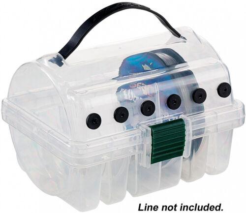 Fishing Line Spooling Box Clear Plastic Store Spools Untangled /& Organized