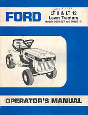 FORD  LT 8 LT 12  LAWN TRACTORS OPERATOR MANUAL 9607427   9618813