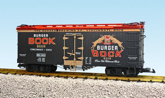 vendiendo bien en todo el mundo USA Trains G Escala nos nos nos hierba coche R16422 Hamburguesa cerveza Negro Rojo  caliente