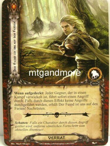 1x Der Feind ist uns auf den Fersen #065 Die Schwarzen Lord of the Rings LCG