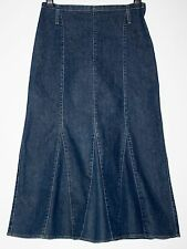 *PER UNA* LONG DENIM GODET STRETCH SKIRT SIZE 12