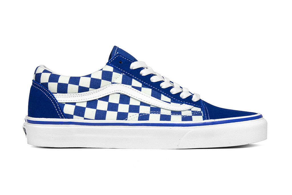 New Vans Primary Check Old Skool Checkerboard Pack Blue Womens Chex Shoes