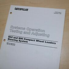 Caterpillar 902 906 Wheel Loader Steering System Test Adjusting Service Manual