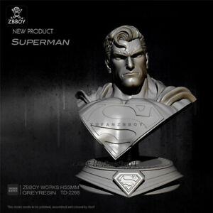 Superman-sin-pintar-Busto-Resin-Kits-Figura-GK-sin-montar-5-5cm