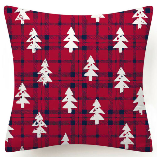 """Throw PILLOW COVER Christmas Decorative Xmas Double-Sided Cushion Case 18x18/"""" US"""